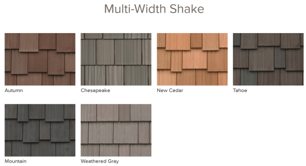Davinci Synthetic Shake Roof Standard Colors