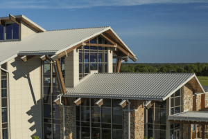 Approximately 43,500 square feet of PAC-CLAD Snap-Clad panels was installed on the structure's roof.