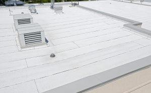 A 27,020-square-foot IKO Torchflex ArmourCool Granular Roofing System was installed.