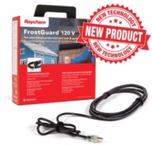 The FrostGuard heating cable protects roofs and gutters against ice dams and icicle build up.