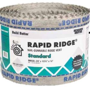 Ridge ventilation includes hot-dipped galvanized nails to improve longevity and rust resistance for outdoor applications.