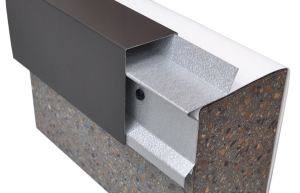 The EclipsEdge edge metal profile is not fastened to the horizontal surface of the roof, so there are no fasteners to seal with membrane flashing.