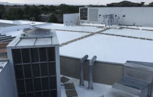 The decision to apply a coating was made in part because it would cause minimal disruption to the facility and the site could remain open to serve patients during the application.