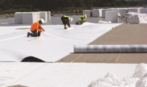 The TPO roofing system was constructed over a 22-gauge metal fabricated roof deck.