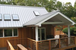 The standing seam metal roofing panels do not require the use of clips.