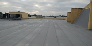 In addition to the roofing scope, Advanced Roofing's HVAC division installed and removed heating and air conditioning units and replaced some obstructive ductwork.