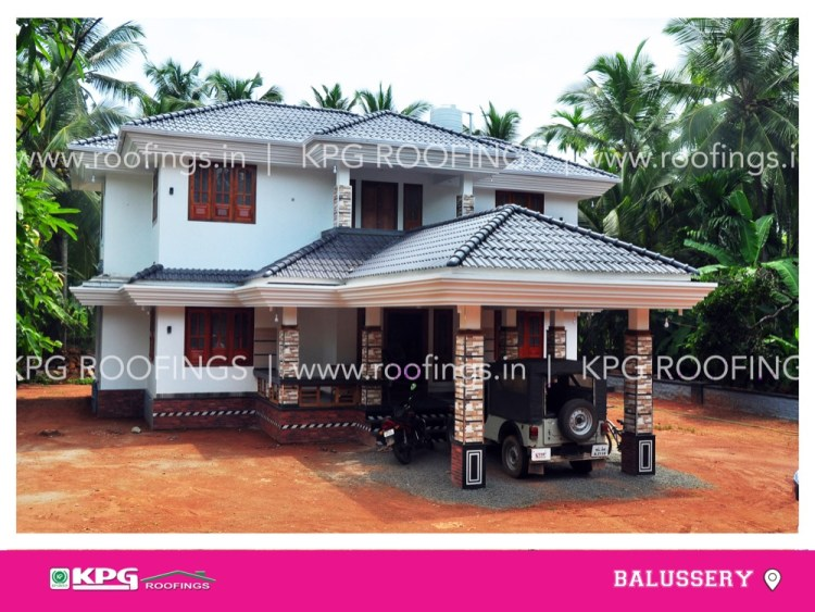 roof tile work done in balussery, calicut