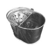 mopping bucket galvanised roofing
