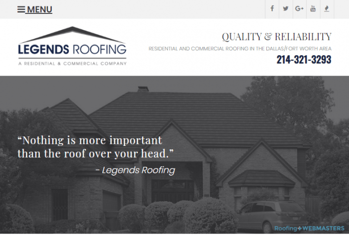 A Roofing Company That Engages in Search Marketing
