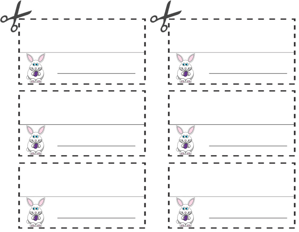 Easter Bunny Table Place Names Rooftop Post Printables
