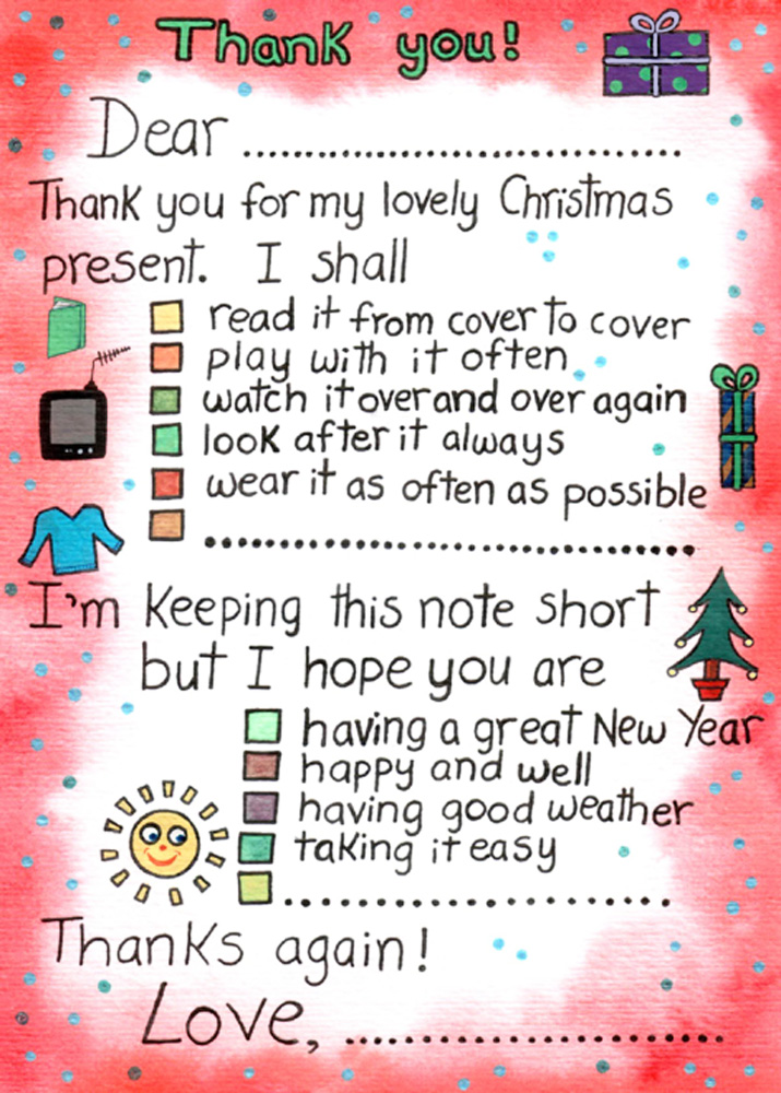 Thank You For My Christmas Present Rooftop Post Printables