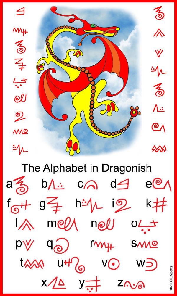 Dragonish Alphabet Rooftop Post Printables