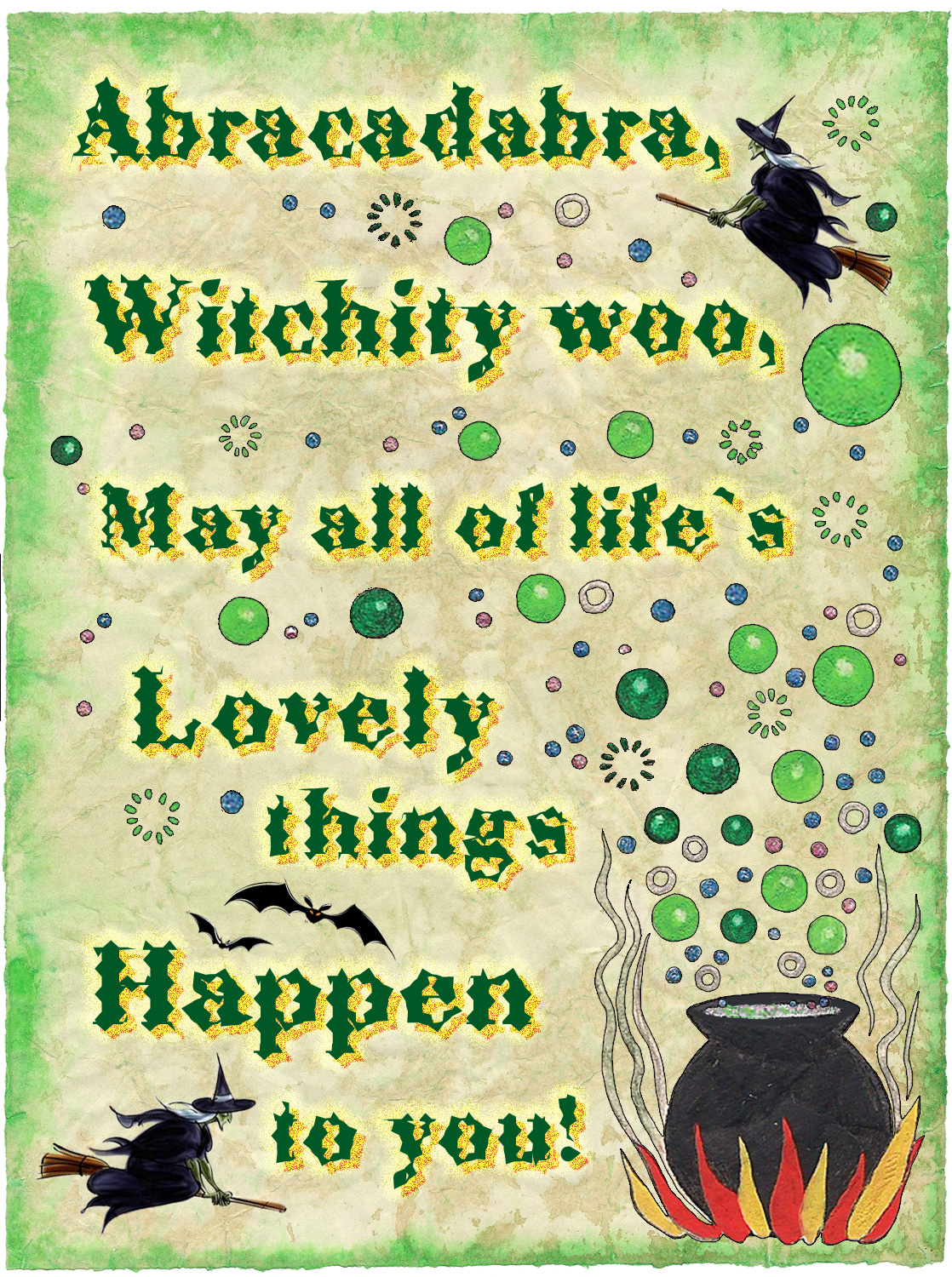 Witchy Wall Spell May Lovely Things Happen  Rooftop Post