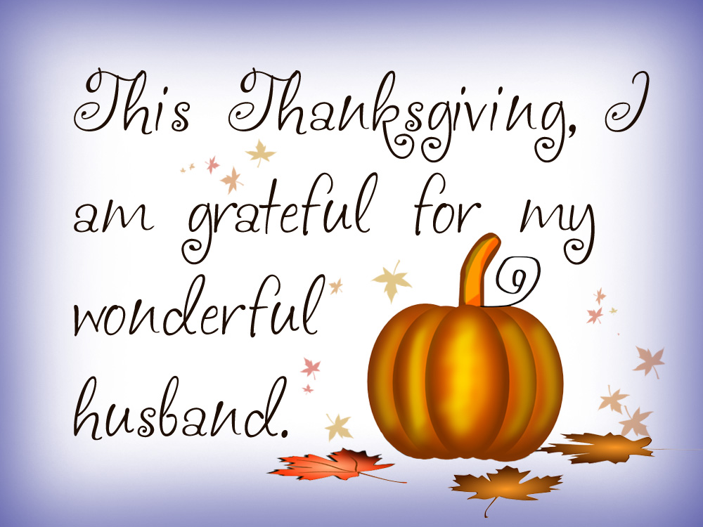 Thanksgiving Note Grateful For My Wonderful Husband