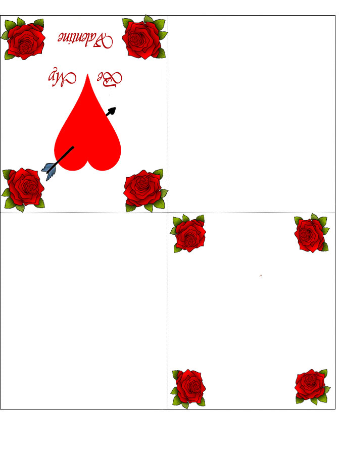 Four Fold Printable Valentine's Day Card Rooftop Post