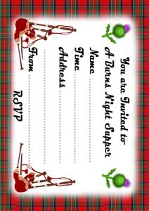 Best of burns rooftop post printables for Burns supper menu template