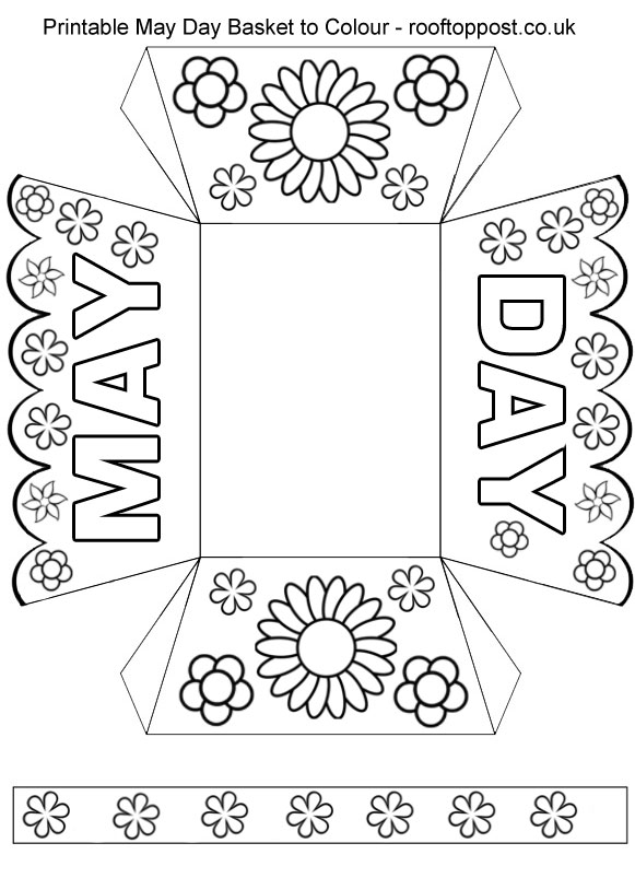 Printable May Day Basket To Colour Rooftop Post Printables