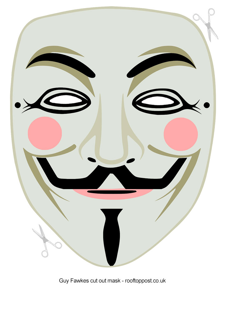 guy fawkes cut out