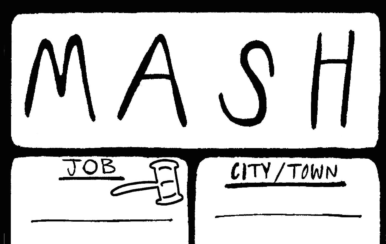 Rookie Printable Mash Game