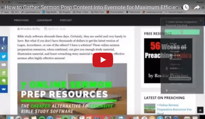 How to Gather Sermon Prep Content Into Evernote for Maximum Efficiency