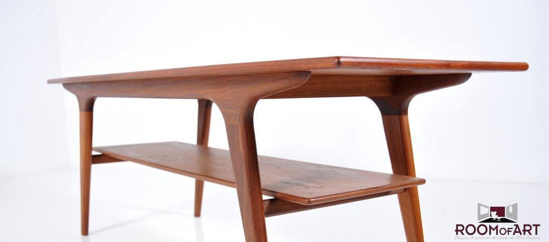 teak sofa table small beds with storage uk danish organic room of art