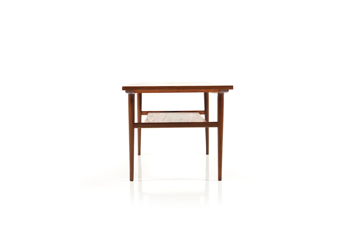 teak sofa table designer leather fine danish 1960s room of art