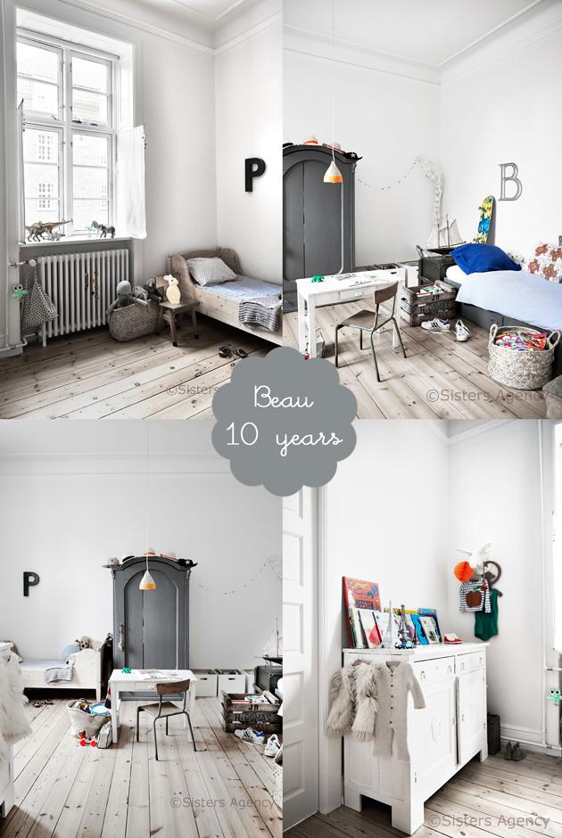 scandinavian shared boys bedroom beau  Room to Bloom