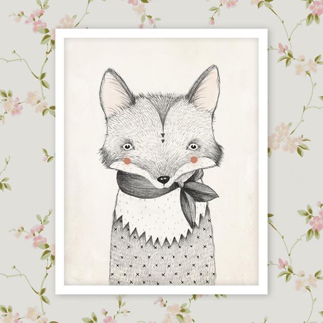 rylee-&-cru-fox-print-on-sandberg kajsa light pink-wallpaper