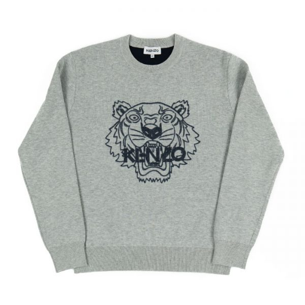 Kenzo Tiger Knit in Grey Room 26 Carlisle