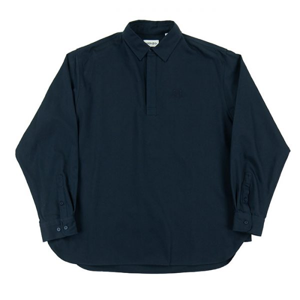 Kenzo Long Sleeve Tiger Crest Polo Shirt in navy Room 26 Carlisle