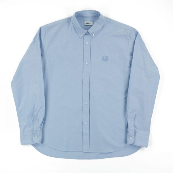 Kenzo Cotton Oxford Shirt in Blue Room 26 Carlisle