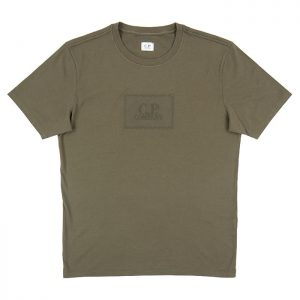 C.P. Company 30/1 Jersey Label Logo Tee in Ivy Green Room 26 Carlisle