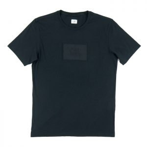 C.P. Company 30/1 Jersey Label Logo Tee in Black Room 26 Carlisle