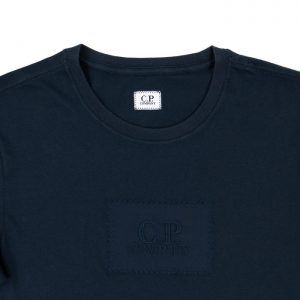 C.P. Company 30/1 Jersey Label Logo Tee in Total Eclipse Room 26 Carlisle