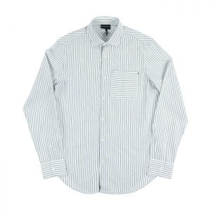 Emporio Armani LS Shirt in White Navy Room 26 Carlisle
