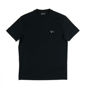 Emporio Armani Emoji Patch Jersey Tee in Nero Room 26 Carlisle