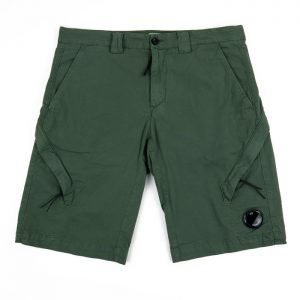 C.P. Company Stretch Twill lens Cargo Shorts in Laurel Wreath Room 26 Carlisle