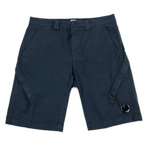 C.P. Company Stretch Twill Lens Cargo Shorts in Total Eclipse Room 26 Carlisle