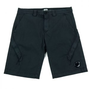 C.P. Company Stretch Twill Lens Cargo Shorts in Black Room 26 Carlisle