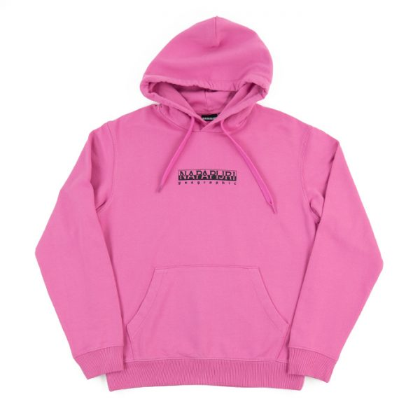 Napapijri Box Hoodie in Pink Super Room 26 Carlisle