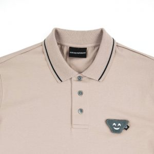 Emporio Armani SS Emoji Patch Jersey Polo in Rosa Antico Room 26 Carlisle