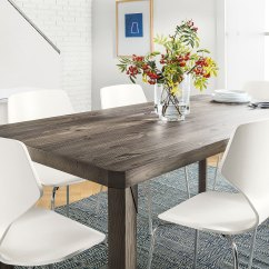 Farm Style Kitchen Table For Rent Meets Modern Dining Room Design