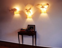 Creative Lighting Idea with Origami Wall Lamps and ...
