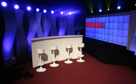 Lokalrunde Bühnenausstattung zum TV Pilot Dreh im Admiralspalast