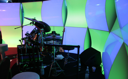 Lokalrunde LED Backdrop zum TV Pilot Dreh im Admiralspalast
