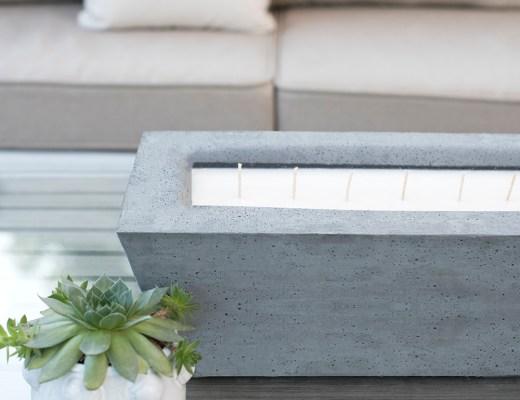 Oversized Concrete Candle DIY