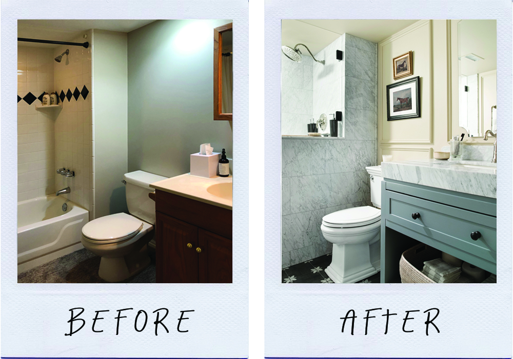 Basement Bathroom Before And After, How To Make A Bathroom In Basement