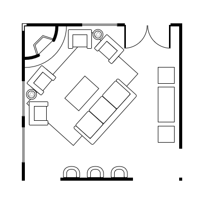 2.4 layout idea for square living room