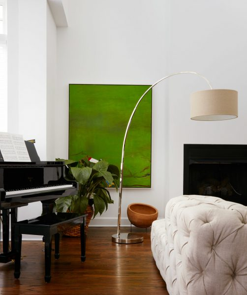 green painting for living room interior design
