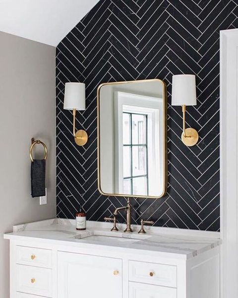 grout, bathroom grout, bathroom tile grout, bathroom tile, herringbone tile, black herringbone tile